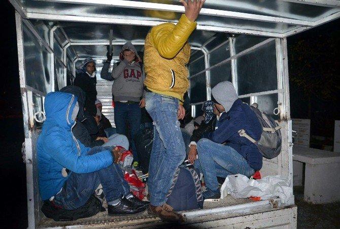 Aydın'da 46 Suriyeli Göçmen Yakalandı