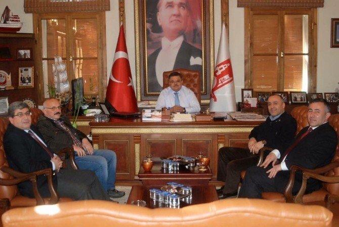 Yalova Ve Düzce İl Genel Meclis Başkanlarından Başkan Yağcı'ya Ziyaret