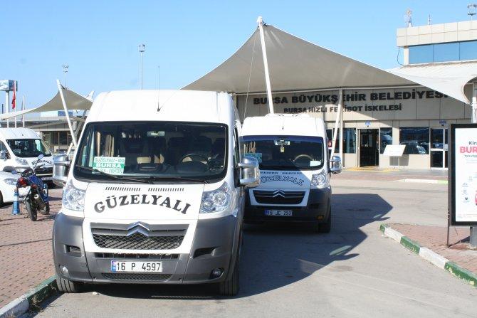 Güzelyalı minibüsleri yeniden Bursa'ya çalışmaya başladı