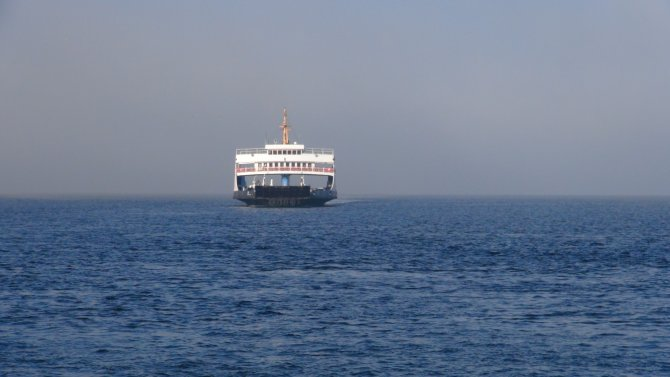 Çanakkale'de sis kuyruğu