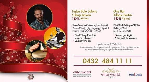 Elite World Van Hotel Yeni Yıla Hazır