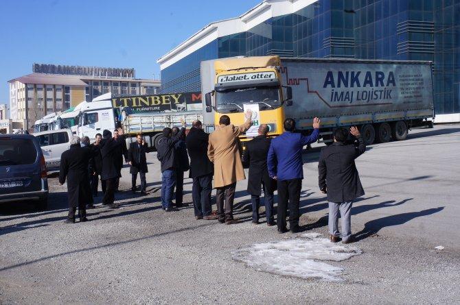 Erzurum'dan Bayırbucak Türkmenleri'ne 20 TIR'lık yardım