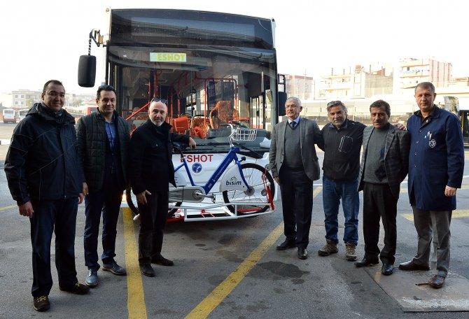 İzmir'de 'bisikletli otobüs' dönemi başlıyor