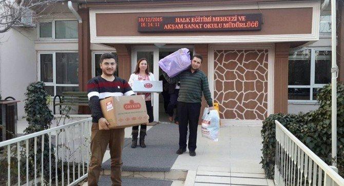 Gediz Halk Eğitimi Merkezi'nden Bayırbucak Türkmenlerine Yardım