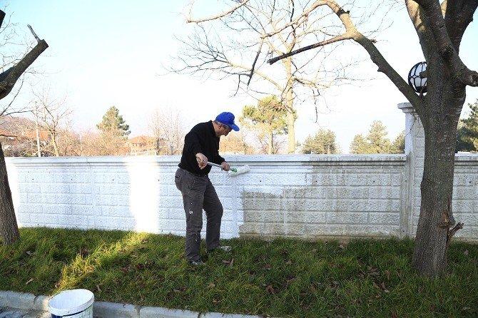 Sapanca Belediyesi Cami Bahçeleri Ve Çevrelerini İyileştirmeye Devam Ediyor