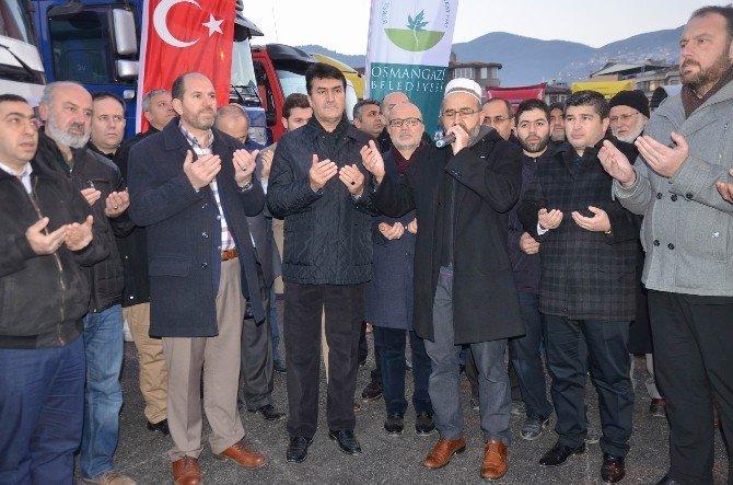 Bursa'dan Suriye'ye 16 Yardım Tır'ı Gönderildi