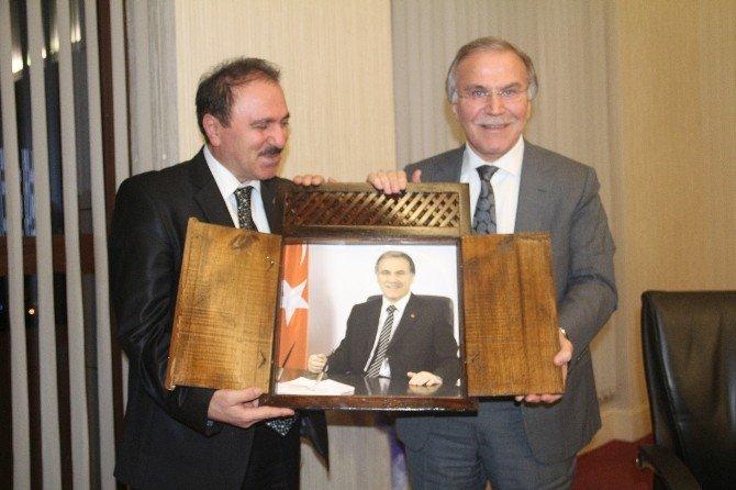 Karabük Esnaf Odaları Başkanlarından Şahin'e Ziyaret