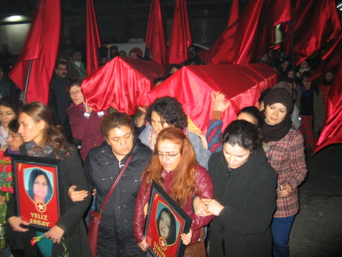 Öter ve Erbay'ın cenazeleri Gazi Cemevi'ne getirildi