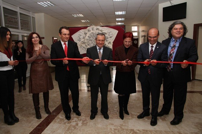 PAÜ'de 'Köktürkçe Sergisi' Açıldı