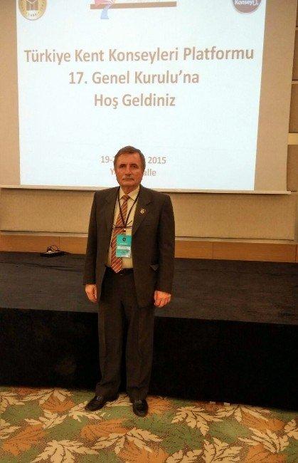 Malkara Kent Konseyi Başkanı Ali İhsan Uslu Türkiye Kent Konseyleri Genel Kuruluna Katıldı