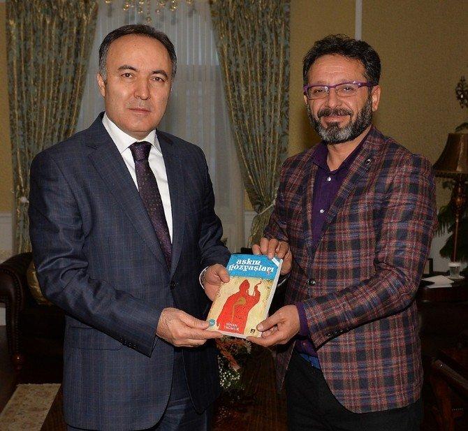 Vali Altıparmak Ve Başkan Sekmen Yazar Sinan Yağmur'u Kabul Etti
