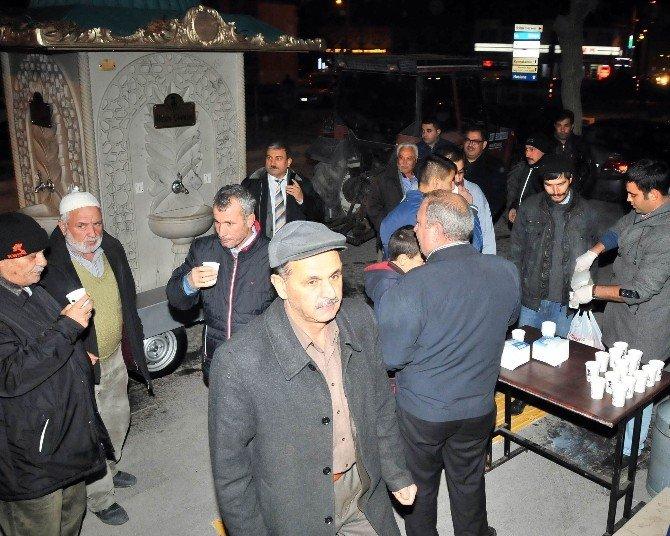 Akşehir Belediyesi'nden Ballı Süt İkramı