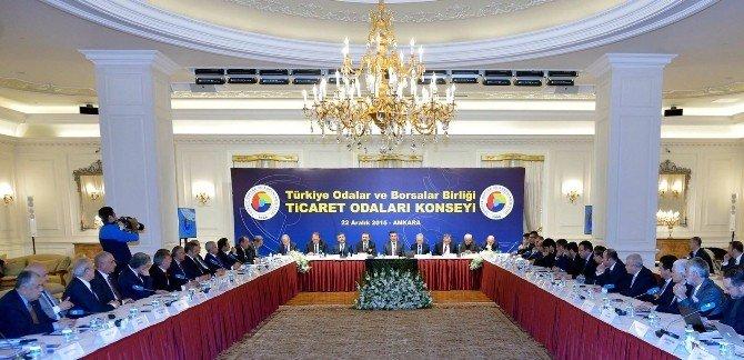 Ayto Başkanı Ülken, Konsey Toplantısında Ticaret Odalarıyla İlgili Konuştu