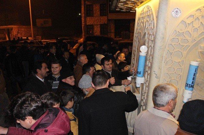 Beyşehir'de İkram Çeşmesinden Sıcak Süt İkramı
