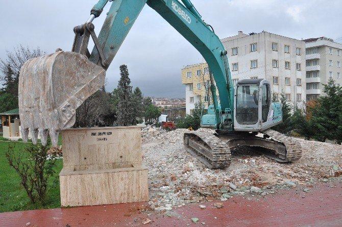 Çerkezköy Şehitliği'nde Düzenleme Çalışmaları