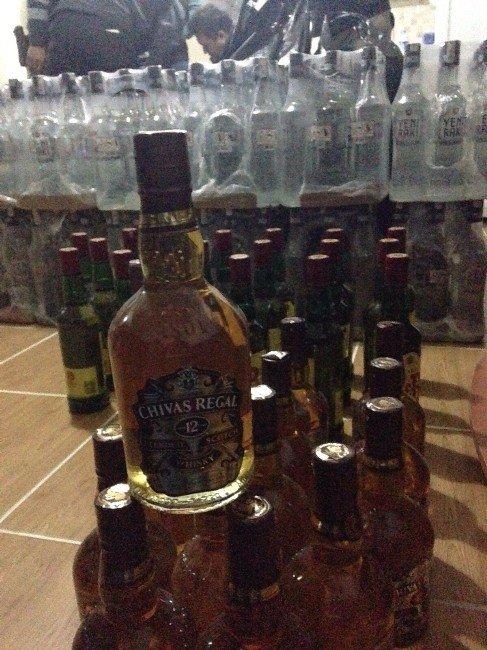 Edremit'te Kaçak İçki Operasyonu