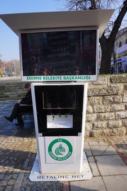 Edirne'de Akülü Engelli Aracı Şarj İstasyonu'na Zarar Verdiler