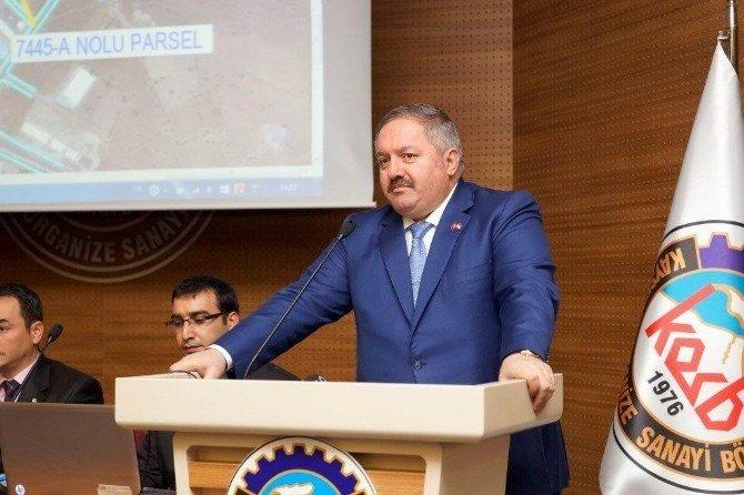 Kosb'den Sanayi Parseli Satış İhalesi Açıklaması