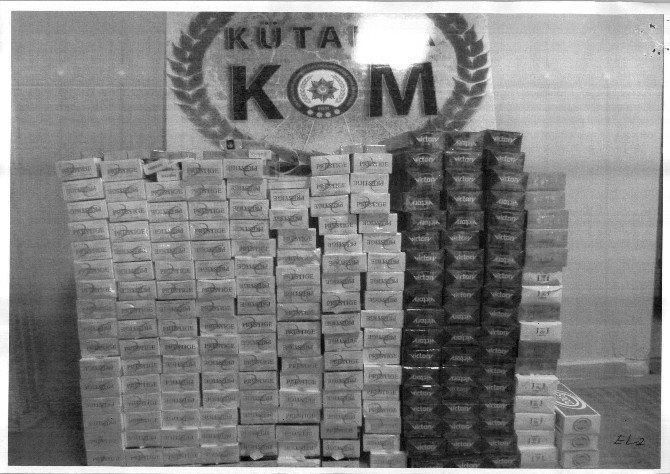 Kütahya'da Kaçak Sigara Operasyonu