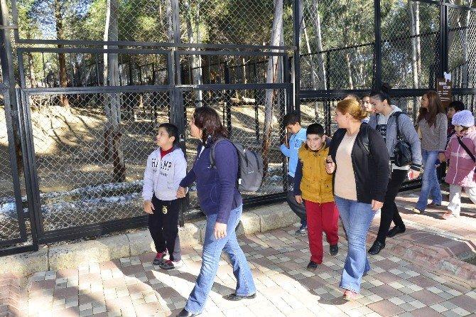 Otizmli Çocuklar Tarsus Hayvan Parkı'nı Gezdi