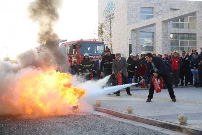 Nilüfer'de 'Acil Durum Tahliye Tatbikatı' yapıldı