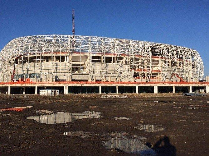 Samsun'un Yeni Stadının Yüzde 70.24'ü Tamam