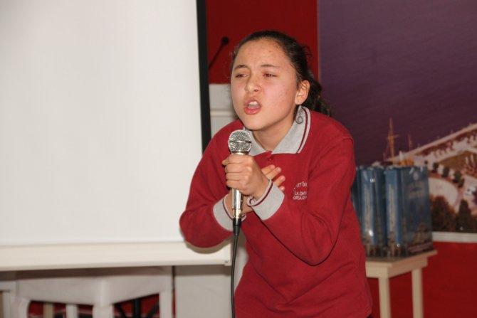 Öğrenciler 'En Güzel İstiklal Marşı'nı okumak için yarıştı