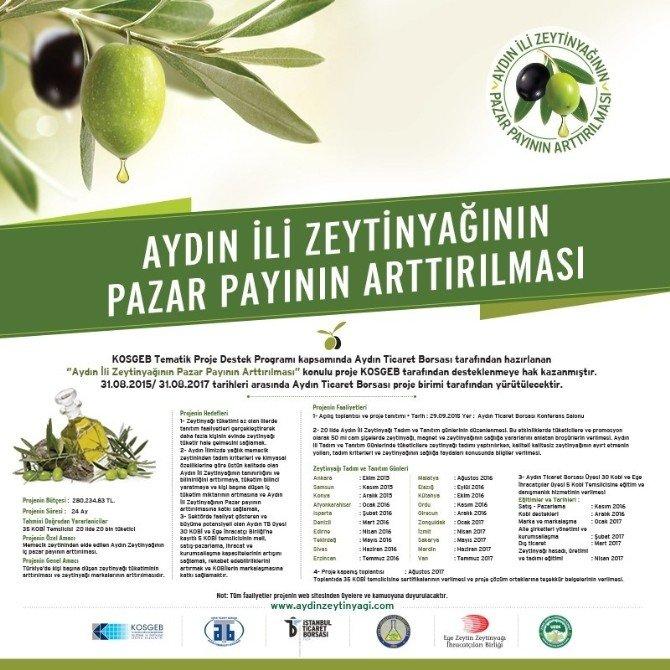 Aydın Zeytinyağı Konya'da Tanıtılacak