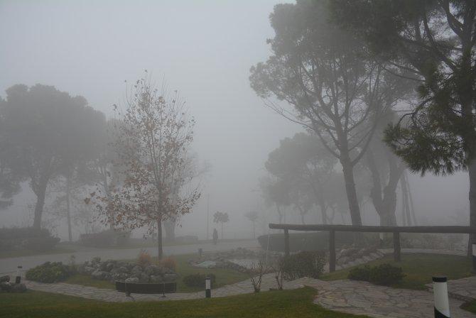 Balıkesir'de yoğun sis görüş mesafesini 20 metreye düşürdü
