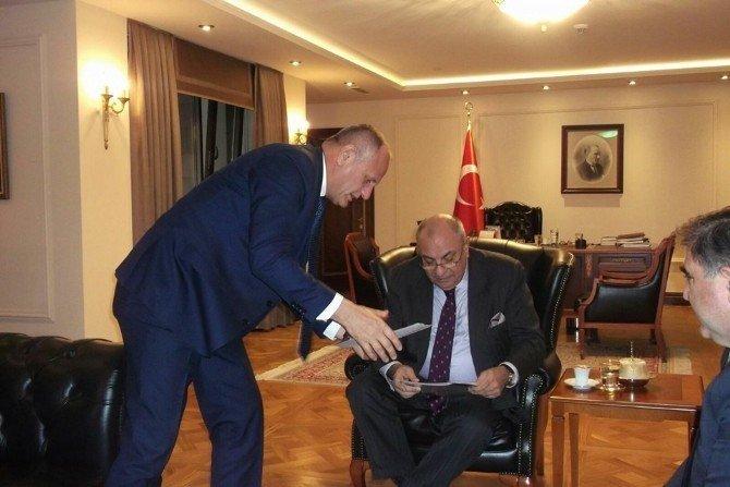 Başkan Keleş, Başbakan Yardımcısı Türkeş'i Düzce'ye Davet Etti