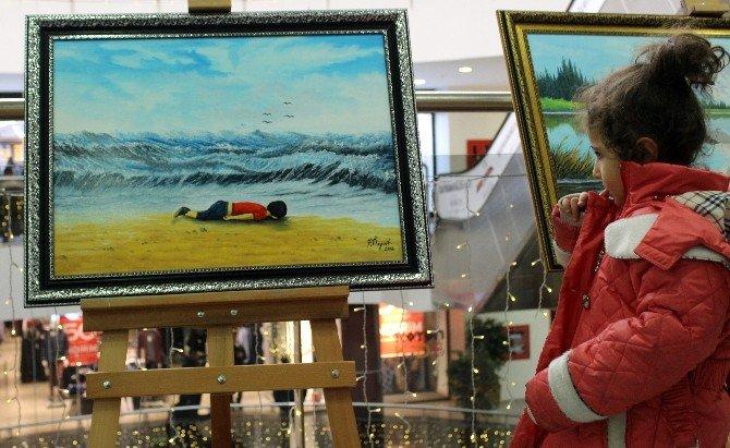 Bodrum Kıyılarında Yüzükoyun Yatan Cesediyle Tüm Dünyayı Sarsan Aylan Bebek, Erzurum'da Resmedildi