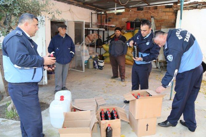 Aydın'da kaçak içkiler ele geçirildi
