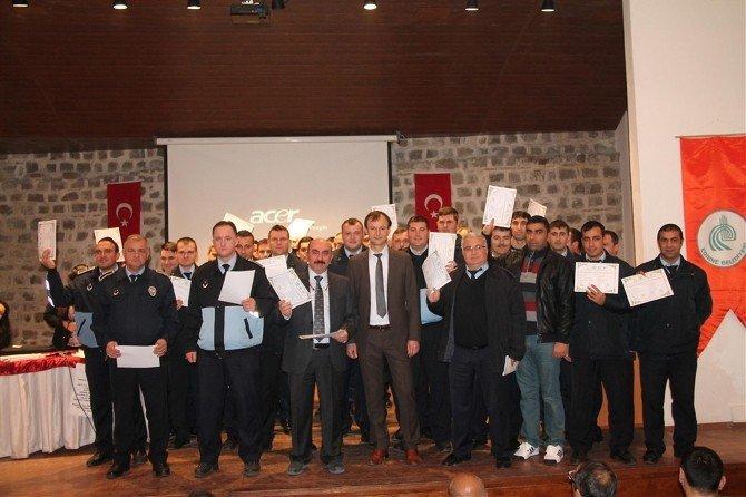 Edirne Belediyesi Personelleri Sertifikalarını Aldı