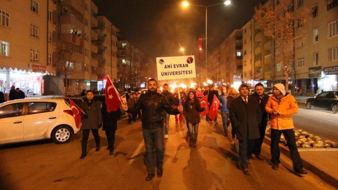 Atatürk'ün Kırşehir'e gelişi Fener alayı ile kutlandı