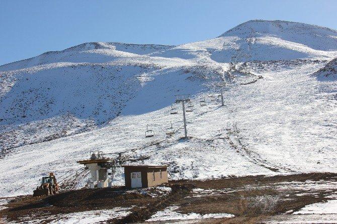 Haserek Kayak Tesisi Kışa Hazır