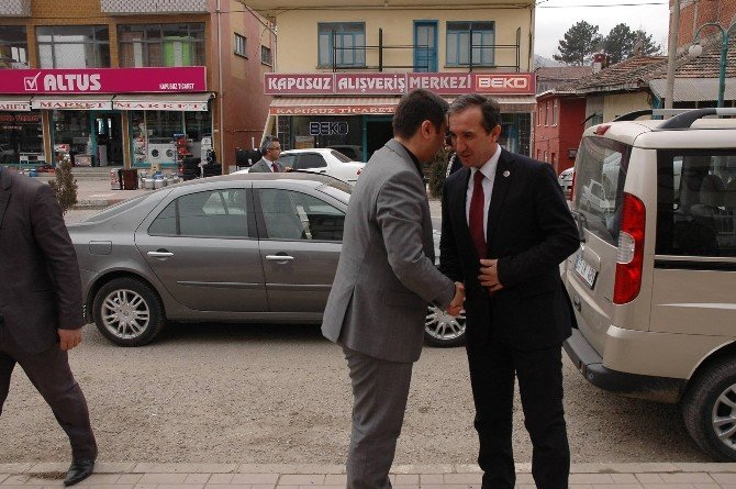 Kaymakam Çiğdem, Belediye Başkanı Uçar'ı Ziyaret Etti