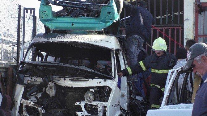 Beyşehir'de Hurda Deposunda Yangın