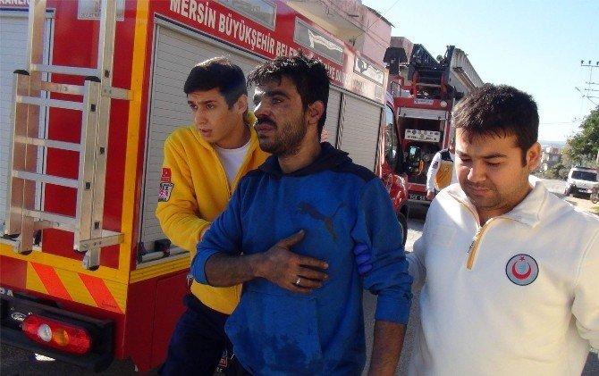 Mersin'de Suriyeli Ailenin Evi Yandı: 4 Yaralı