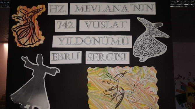 Özel Murat Yıldırım Ortaokulu'nda Ebru Sergisi
