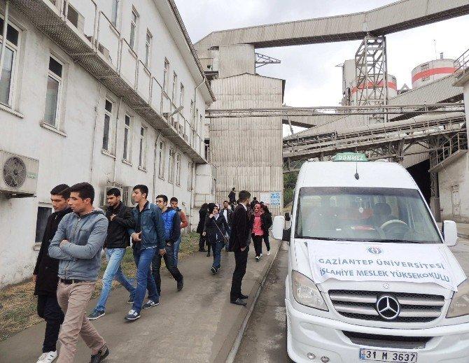 İslahiye MYO Öğrencileri, Çimento Fabrikasına Teknik Gezi Düzenledi
