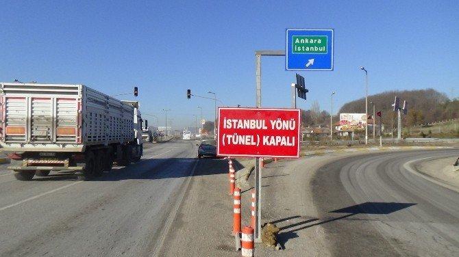 Bolu Tüneli İstanbul İstikameti 8 Saat Ulaşıma Kapatıldı