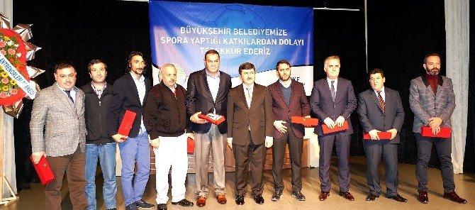 Trabzon Büyükşehir Belediyesi, Başarılı Sporcu Ve Kulüpleri Ödüllendirdi