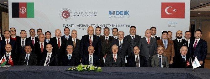 Afganistan Cumhurbaşkanı, Deik Üyesi Türk İş Adamları İle Bir Araya Geldi