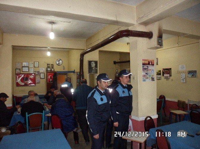 Turhal Belediyesi Zabıta Ekipleri Kıraathaneleri Denetledi