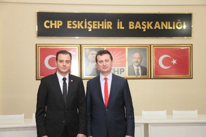 AK Parti'den Ve CHP'nin Yeni İlçe Başkanına Hayırlı Olsun Ziyareti