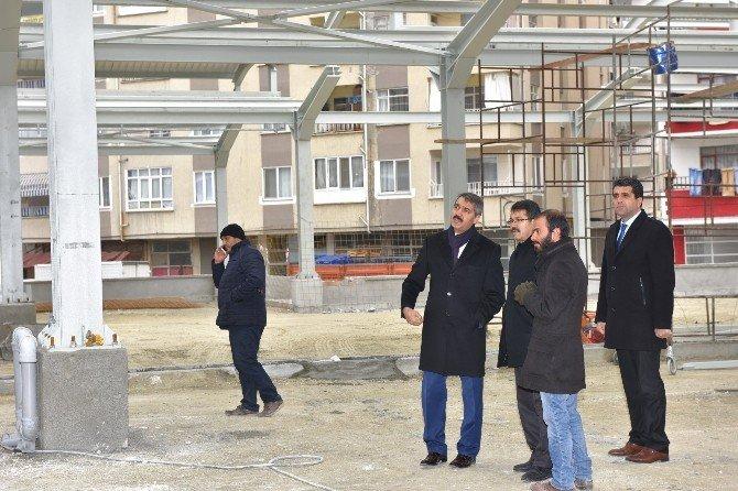 Başkan Bekler, Pazar Yeri İnşaatını İnceledi