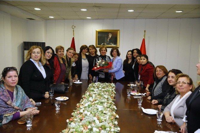 CHP Kadın Kollarının İlk Ziyareti Pekdaş'a
