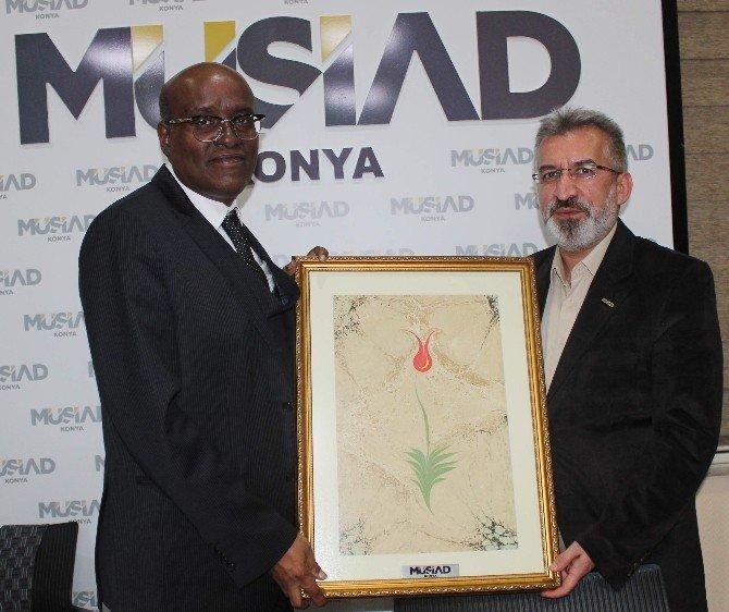 Cibuti Büyükelçisi'nden MÜSİAD Konya'ya Ziyaret