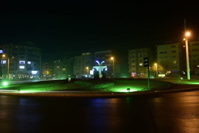 Çorlu'nun sokakları ışıl ışıl