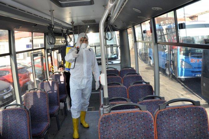 Toplu ulaşım araçları her gün ilaçlanarak servise çıkacak